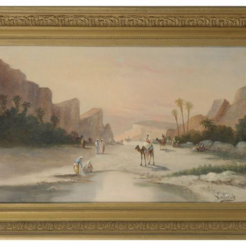Ecole française du XIXème XXème siècle Les gorges d'El Kantara animées (province…