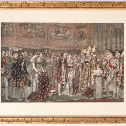 D'après Georges ROUGET (1783 1869) Mariage religieux de Napoléon et Marie Louise…