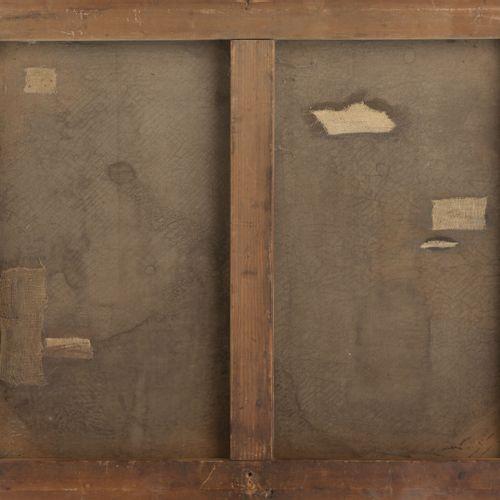 Alfred DIDIER (1840 1892) Fermière devant un fossé en eau animé de canards.  Hui…