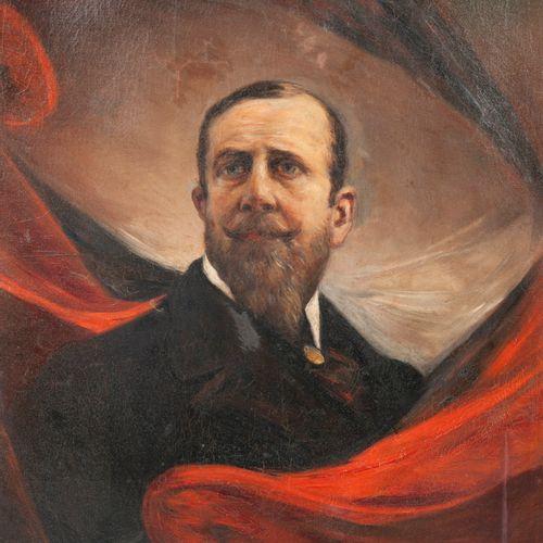 Philippe MONTEVERDE (1846 1920) Portrait de Paul Déroulède.  Huile sur toile (re…
