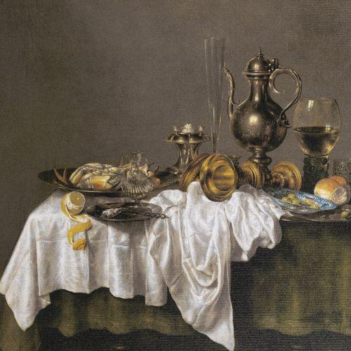 D'après Willem Claesz HEDA Déjeuner au homard.  Reproduction, impression sur toi…