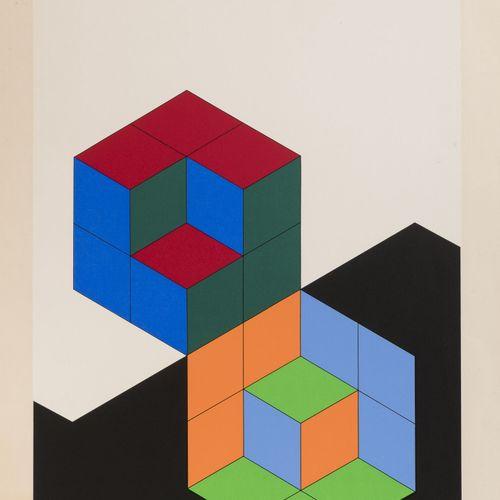 Victor VASARELY (1906 1997) Bi Hexa, 1975  Sérigraphie sur papier.  Epreuve d'ar…