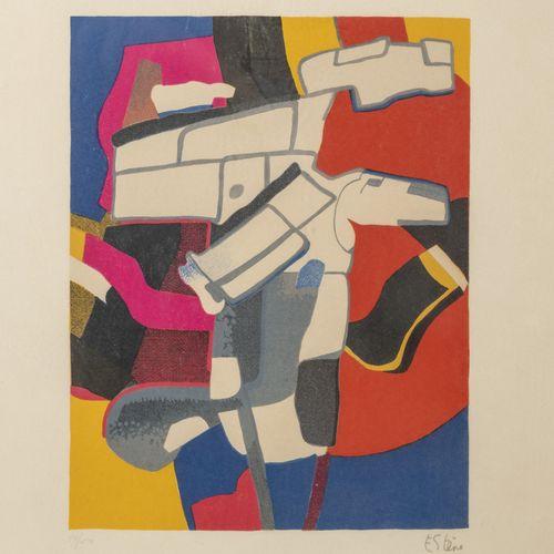 Maurice ESTÈVE (1904 2001) Bougri, 1974.  Lithographie en couleurs sur papier.  …