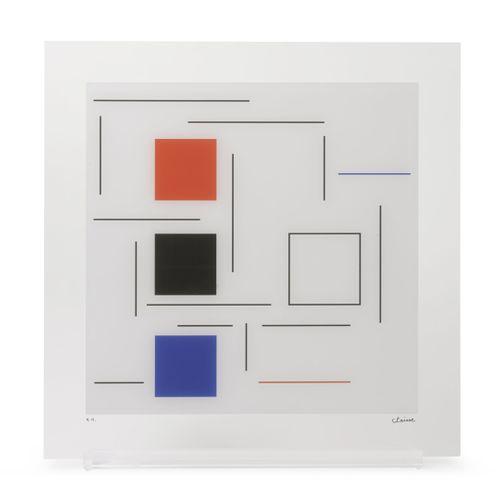 Geneviève Claisse (1935 2018) Sans titre, 2016.  Sérigraphie sur plexiglass.  Ep…