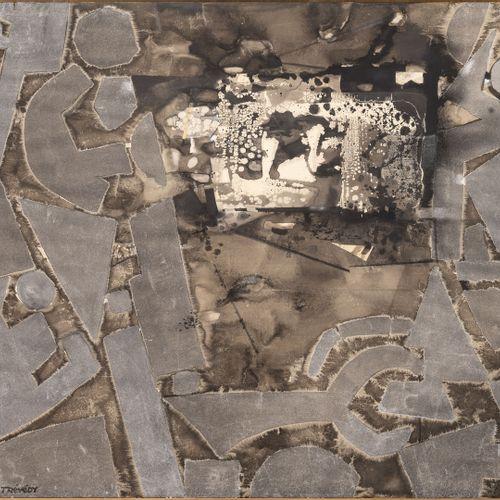 Yves TRÉVÉDY (1916 1990) Japon, Trame du Temps, 1980.  Technique mixte sur toile…