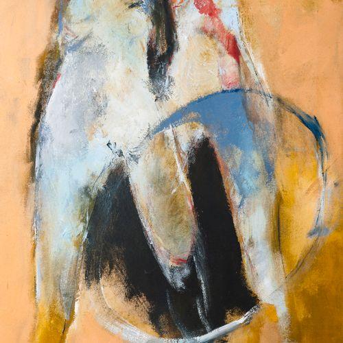 Francky CRIQUET (1968) Sans titre.  Huile sur toile.  Signée en bas vers la droi…