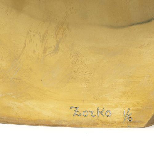 Yuri ZORKO (1937) Sans titre, circa 1975 80.  Epreuve en bronze doré.  Signée et…