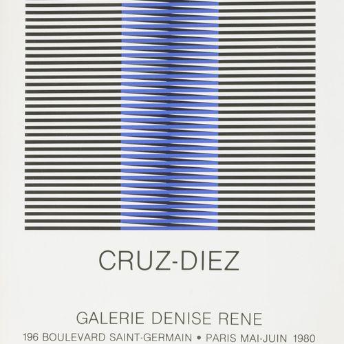 D'après Carlos CRUZ DIEZ Sans titre, 1980.  Sérigraphie sur papier.  Non signé. …