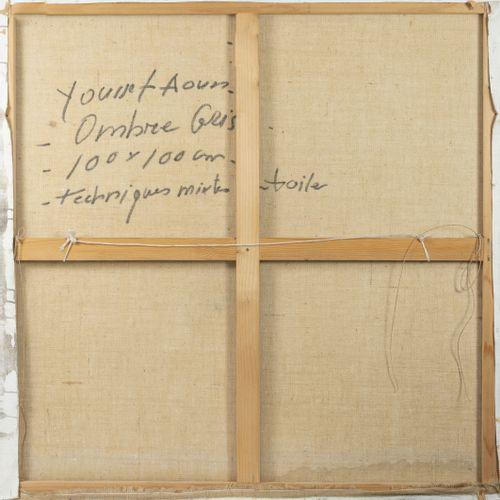 Youssef AOUN (1965) Ombre grise, 2003.  Technique mixte sur toile.  Signée et da…