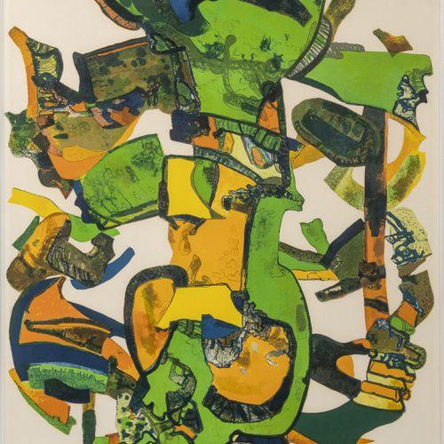 Maurice ESTÈVE (1904 2001) Folerie, 1975.  Lithographie en couleurs sur papier. …