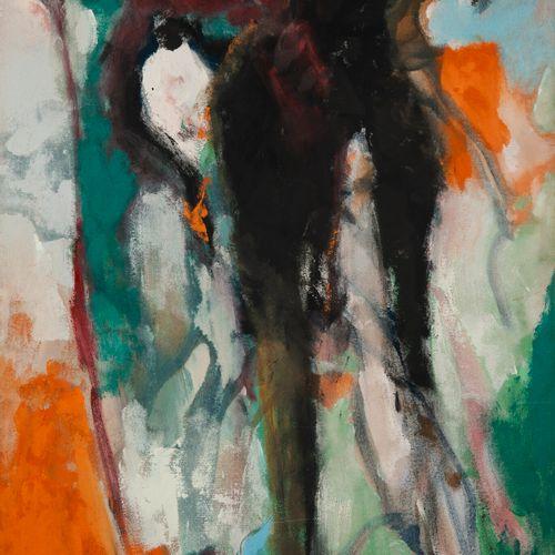 Francky CRIQUET (1968) Sans titre.  Huile sur toile.  Signée en bas vers la gauc…