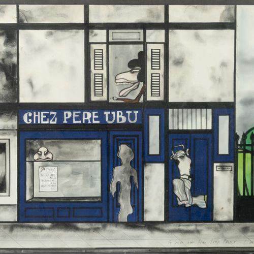 Jan LENICA (1928 2001) Chez Père UBU, 1980.  Aquarelle, gouache et collage sur p…