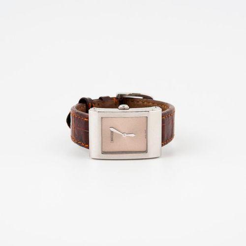 BOUCHERON, Reflet Icare  Montre bracelet d'homme.  Boîtier rectangulaire à bords…