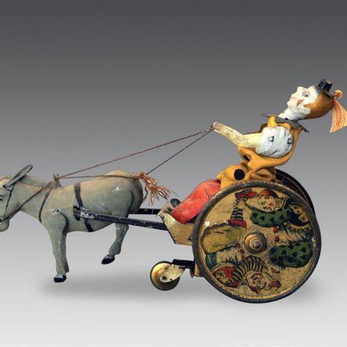 "German mechanical toy LEHMANN ""The recalcitrant donkey"" in metal (mechanism to b…"