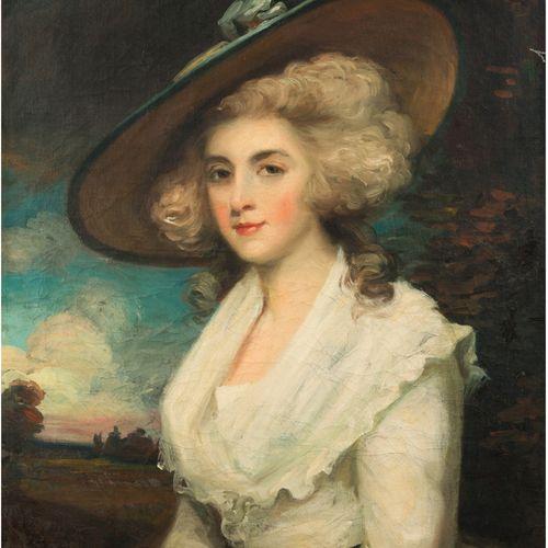 HOPPNER John (Ecole de) Londres 1758 1810 Portrait of a young woman in a white d…