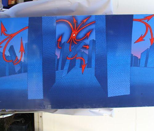 Jean Michel FOLON (1934 2005) Fear of the City, 1972 Colour trial print on oilcl…