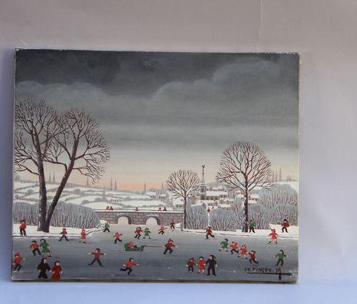 Charles Lucien PINCON MARICOURT (1902 1973) Souvenir d'enfance, 1972 Oil on canv…