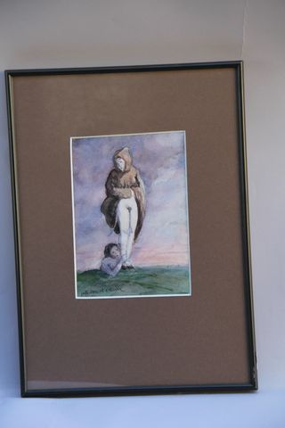 Olivier O. OLIVIER (1931 2011) The two friends Watercolor, signed lower left 20.…
