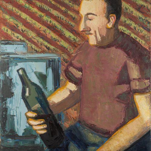 Jean COUTY (1907 1991) The wine bottle Oil on canvas, signed lower right 100 x 7…