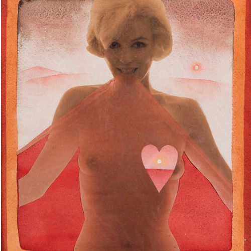 Jean Michel FOLON (1934 2005) Marilyn Watercolour and collage, signed lower righ…