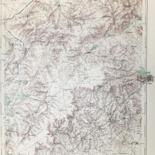 Levant. Atlas 1. 50.000. Out of it 26 sheets in colour. Heliogravures. Paris, Se…
