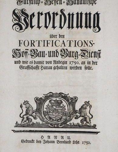 Wilhelm VIII., Hessen Kassel, Landgraf Princely Hessian Hanaian decree on the fo…