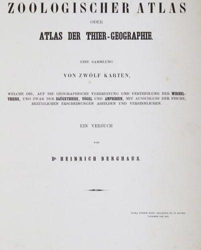 Berghaus,H. General zoological atlas or Atlas of Animal Geography. Gotha, Perthe…
