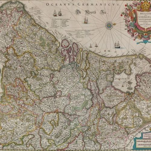 Hondius,J.; J.Janssonius. Atlantis novi pars secunda, exhibens Germaniam inferio…
