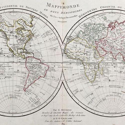 Mentelle,E. Atlas d'Étude, adopté pour les Élèves de l'École royale spéciale mil…