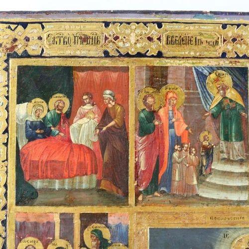 Festtagsikone/Dodekaorton. (18th/19th century, Russia). Resurrection of Christ a…