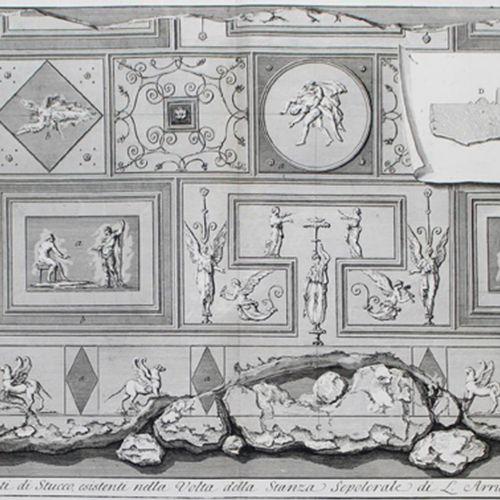Le Antichitá Romane. Band II und IV (von 4). Rom 1784. 59 x 43 cm. ╔Mit 121 Kupf…