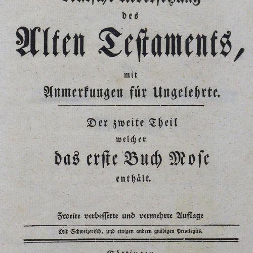 Michaelis,J.D. Traduction allemande de l'Ancien Testament, avec des notes pour l…