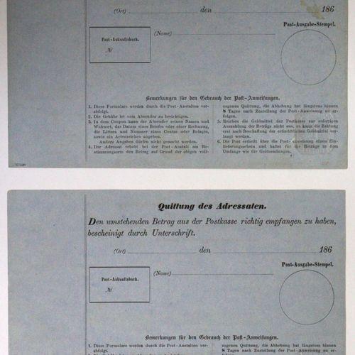 Ganzsachen, Hamburg 1866, mandats postaux. MI A 1a et Mi A 2 Bon état. D