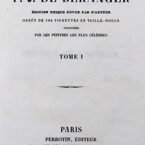 Beranger,P.J.De. Oeuvres complètes. Ed. Unique revue par l'auteur. 5 (incl. Supp…