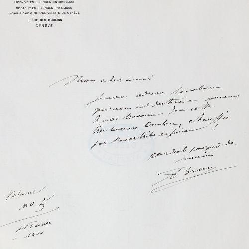 Brun,A.(J.L.). Recherches sur l'exhalaison volcanique.日内瓦,Librairie Kündig 1911年…