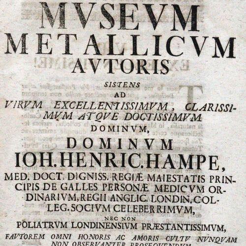 Brückmann,F.E. Museum Metallicum autoris sistens ad virum.... J.H. Hampe. Wolfen…