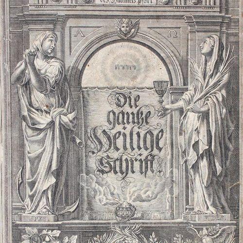 Biblia germanica. Biblia, c'est à dire l'intégralité de la Sainte. Schrifft Deß …
