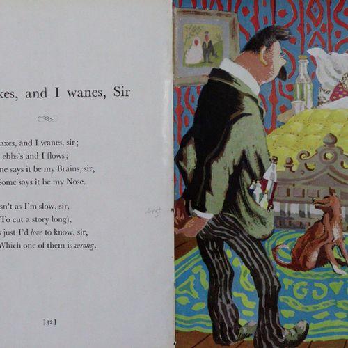 Peake,M. Des rimes sans raison. Londres, Eyre & Spottiswoode 1944. 8°. Avec 16 i…