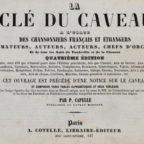 Capelle,P. La Cle du Caveau a l'use des chansonniers francais et etrangers des a…