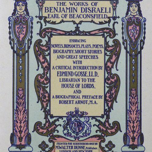 Disraeli,B. Les œuvres. 9 volumes de la série (sur 20). Londres, Dunne (1904). G…