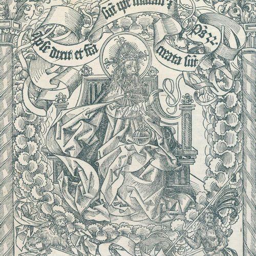 Wolgemut, Michael (1434 Nuremberg 1519). Dieu le Père, trônant, bénissant son œu…