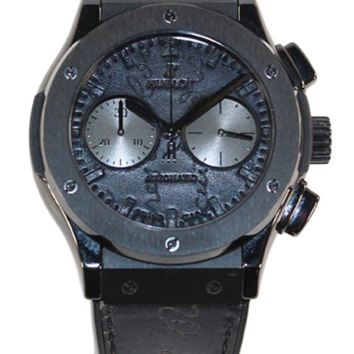 HUBLOT Berluti Scritto chronograph腕表。第174号(第500号)。陶瓷和钛合金表壳,带展示底盖。编号:1233701,签名自动…