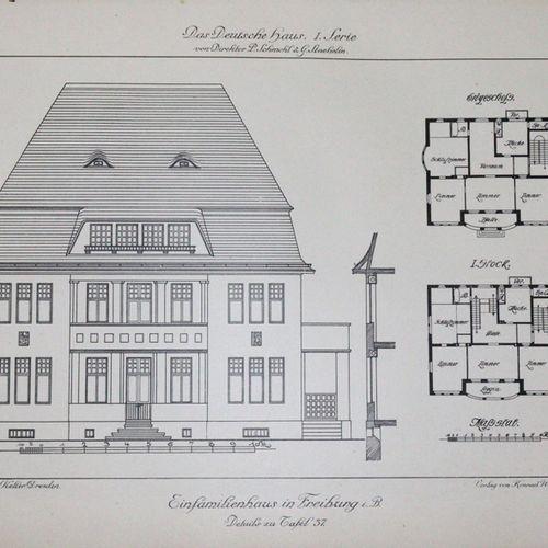 Schmohl,P. U. G.Staehelin (Hrsg.). 德国之家。第一和第二系列,共1卷。Stgt, Wittwer (c. 1910).Fol.…
