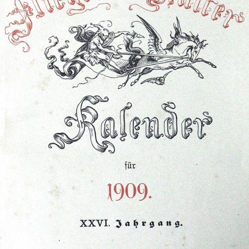 Sammlung 的58个日历(11个是19世纪的;47个是20世纪的)。 Ǟ Ǟ Ǟ Ǟ 部分。使用的痕迹。