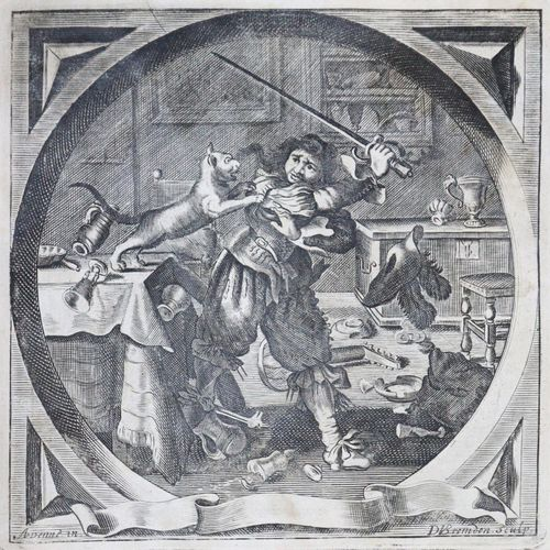 Cats,J. Alle de Wercken... De laatste Druk... 2 Tle. En 1 Vol. Amsterdam 1712. F…