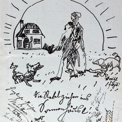 Gästebuch 一个家庭的弗里茨和米莉 内贝尔,有许多亲笔签名。铭文,O.O. 1924 1943. Cl.4°.14 tr. Fol., 103 w. F…