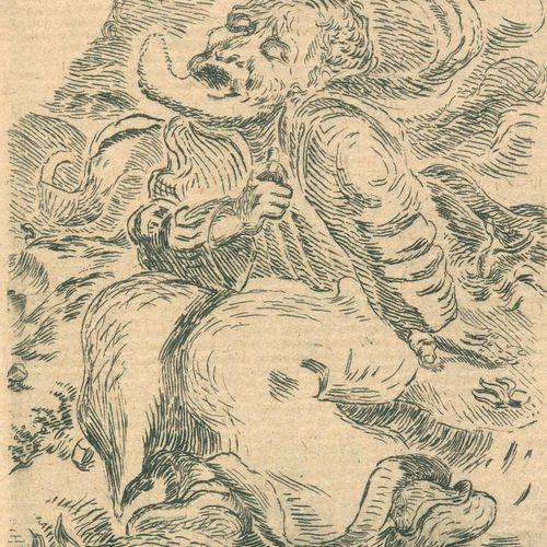 Klopstock,F.G. 亚当之死。一个悲剧。弗莱堡,邦托斯1924年,5个标志。L. Meidner的蚀刻作品。2页,83页。古老的装订方式,镶有鎏金边,…