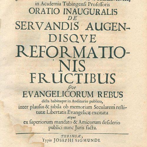 Klemm,J.C. Oratio inauguralis de servandis augendisque reformationis fructibus s…
