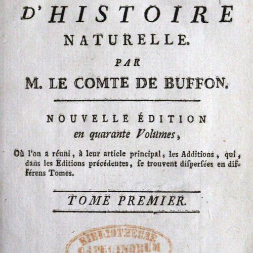 Buffon,(G.L.L.)de. 作品》,40卷。伯尔尼,Nouvelle Societe Typographique 1792。510张铜板,1张表格a。…