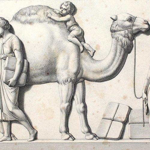 Thorwaldsen,B. L'entrée d'Alexandre le Grand à Babylone. Frise de marbre dans le…
